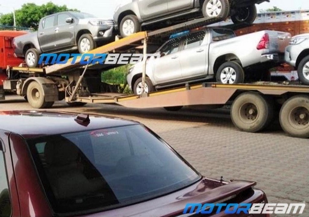 Toyota Hilux Spotted In India