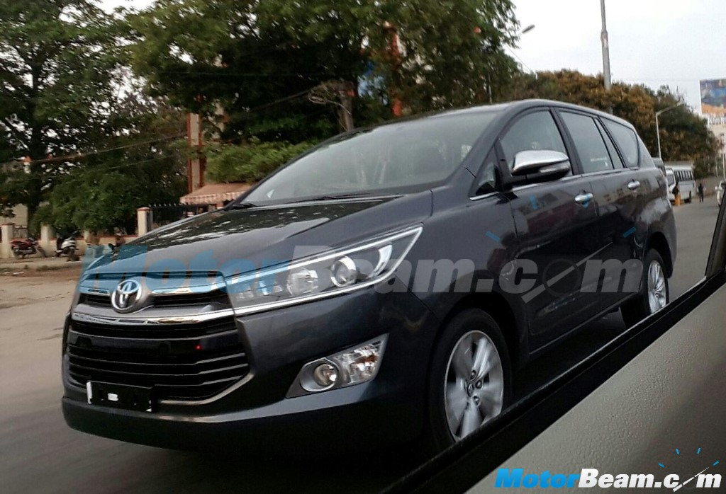 Toyota Innova Crysta Spotted India