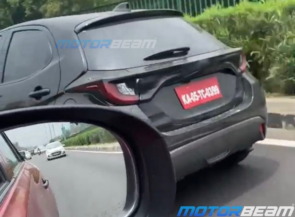 Toyota Yaris Hatchback Spotted Rear
