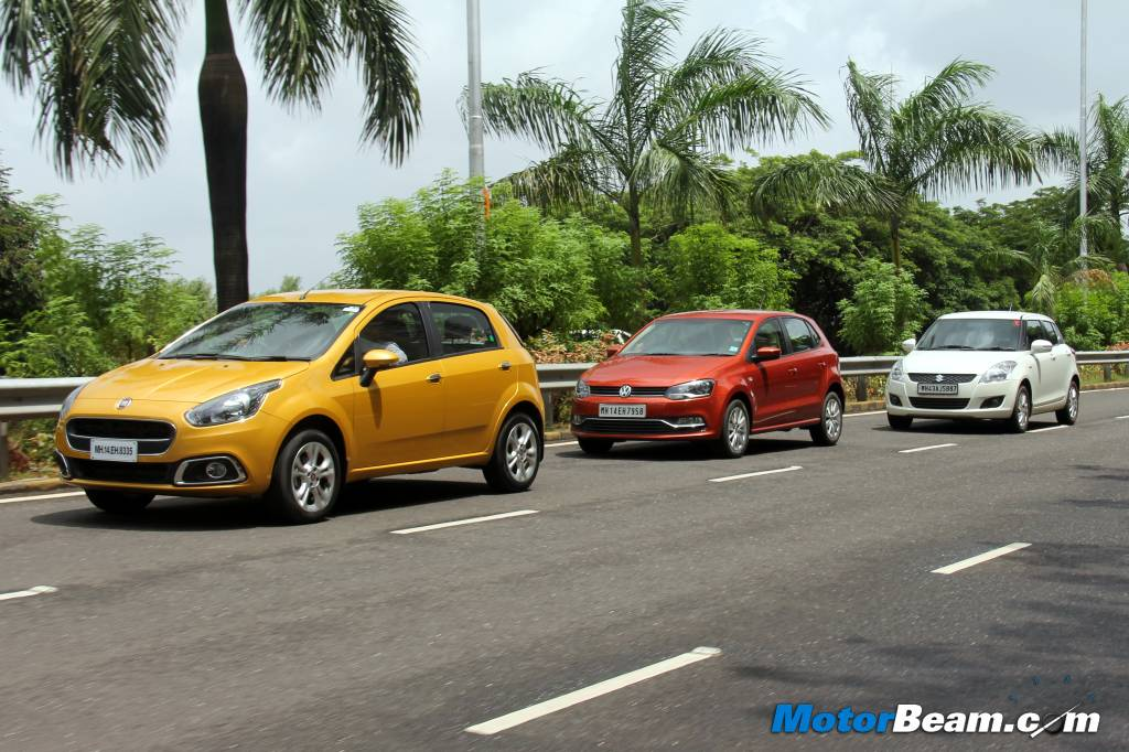 VW Polo vs Punto Evo vs Swift