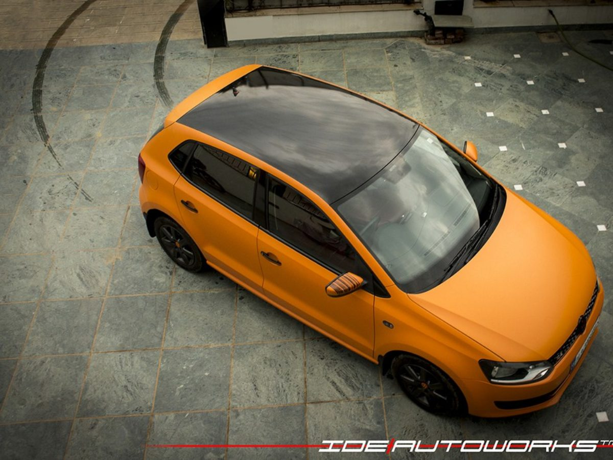 Volkswagen Polo Finished In Matte Orange By Ide Autoworks