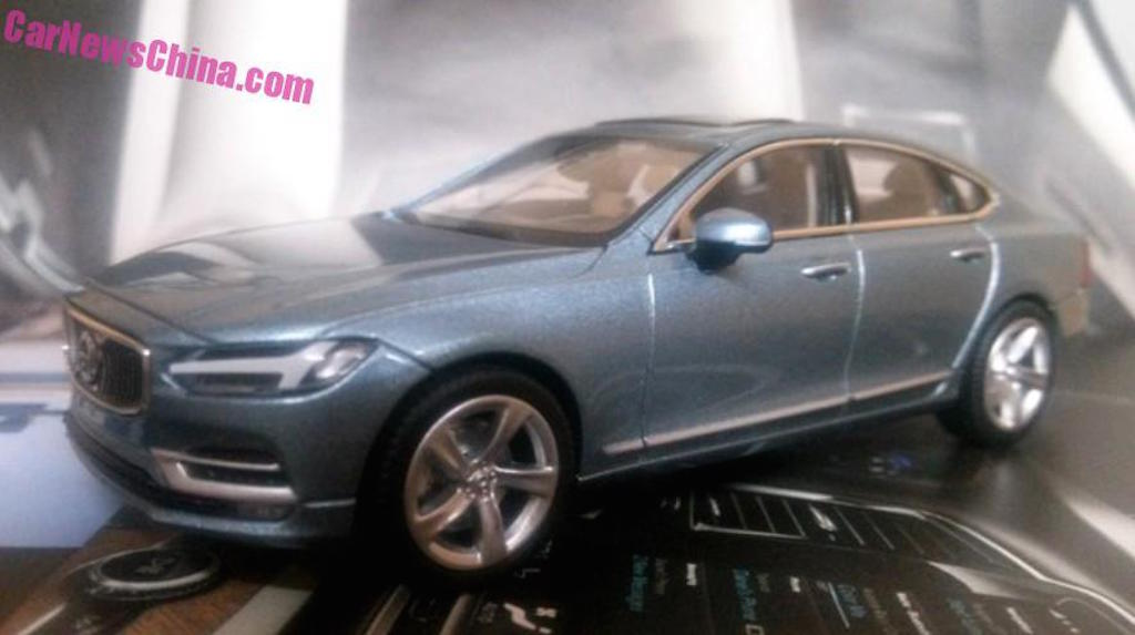 Volvo S90 Scale Model Leaked