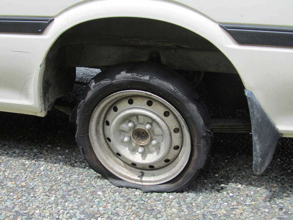 Worn Tyre Blowout
