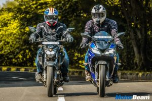 Yamaha R15 V3 vs Yamaha FZ25 Video Shootout