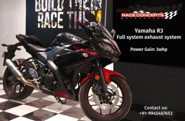 Yamaha R3 Race Concepts Exhaust Launched