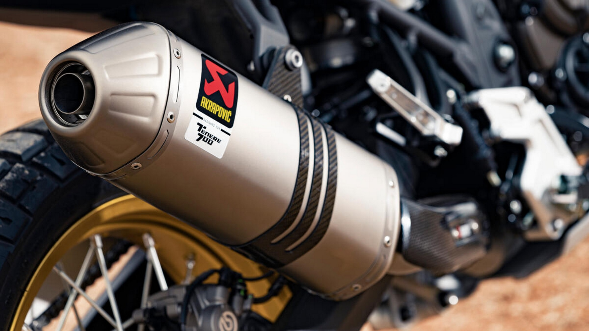 The motorcycle gets an Akrapovic exhaust