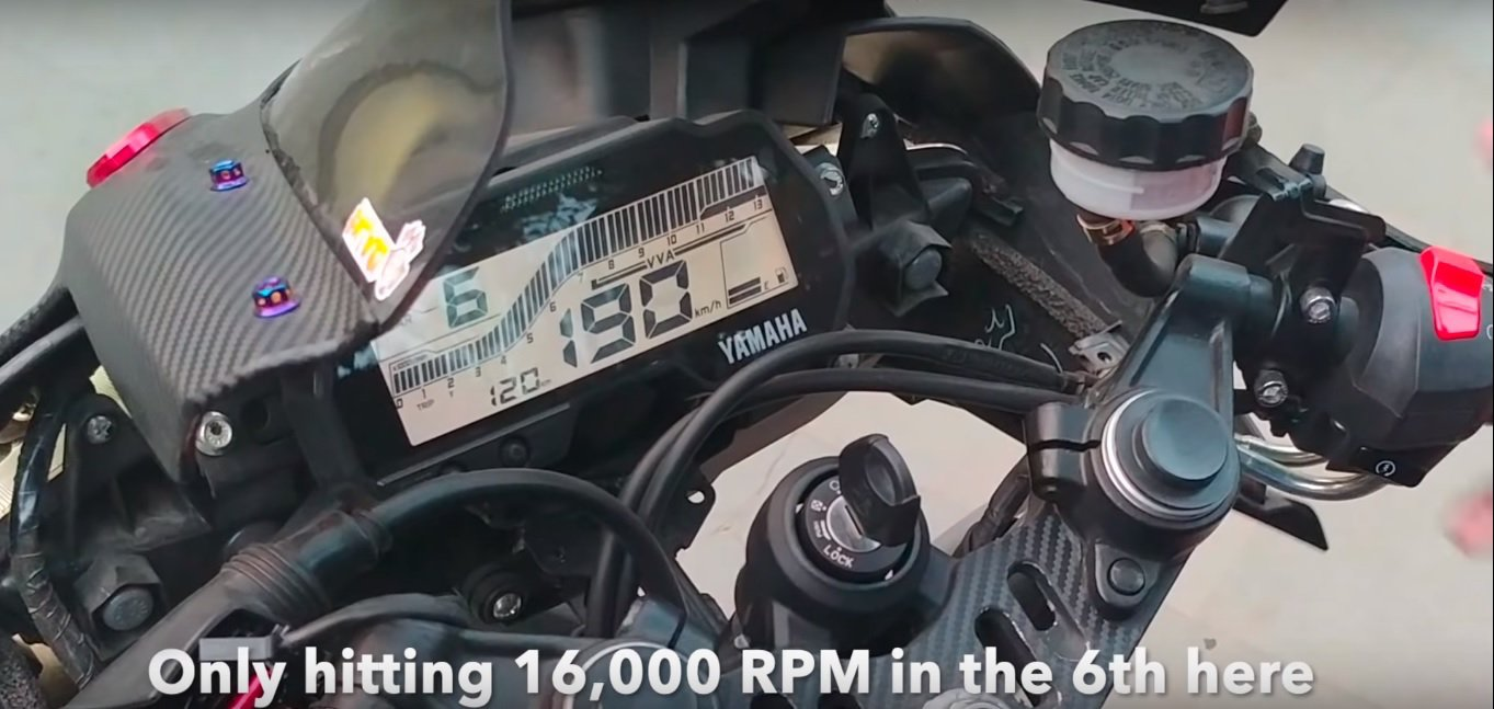 Modified Yamaha R15 V3 Touches 16,000 RPM | MotorBeam
