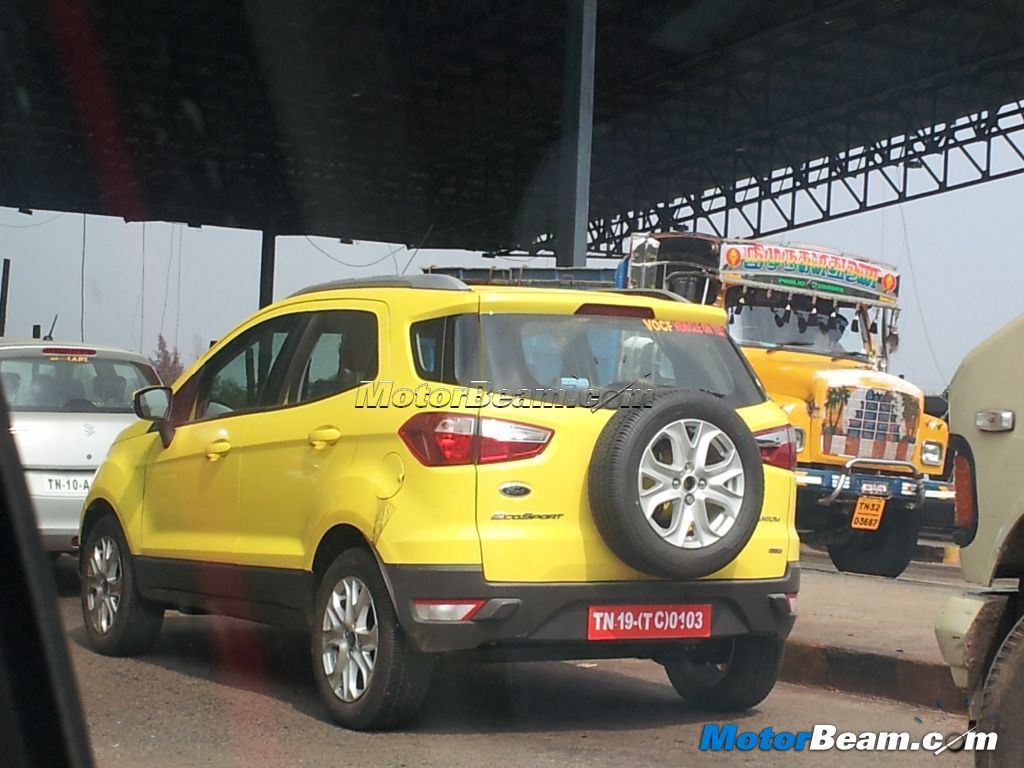 Yellow Ford EcoSport