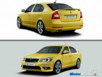 Yellow Skoda Laura RS